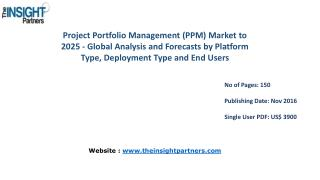 Project Portfolio Management (PPM) Market Forecast & Future Industry Trends to 2025– The Insight Partners