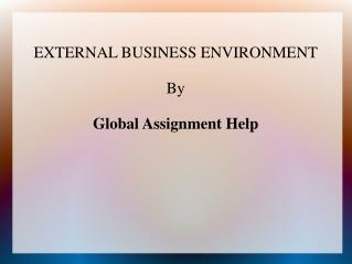 Sample PPT ON External Business Environment