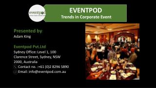 Corporate Event Planning in Australia