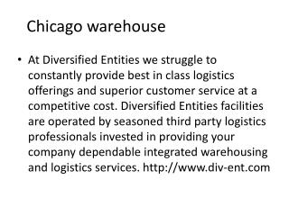 Fulfillment warehouse chicago