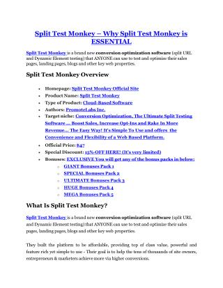 Split Test Mokey Review - 80% Discount and $26,800 Bonus