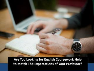 English coursework help online