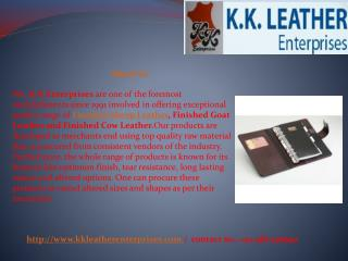 Finished Sheep Leather Manufacturers, Exporters, Supplier - KK Leather Enterprises