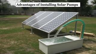 Solar Water Pump Equipments in Sharjah