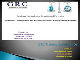 Live Webinar On Employee Embezzlement Detection and Prevention