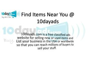 10dayads - Successful Classified Ads