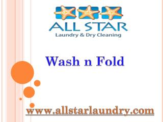 Wash n Fold - All Star Laundry