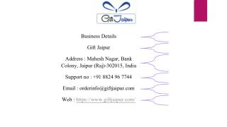 Gift Jaipur Offers Online Cake Delivery in Bhilwara and Other Cities of Rajasthan