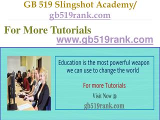 GB 519 Slingshot Academy / gb519rank.com