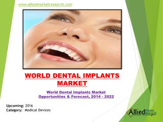 World Dental Implants Market Research & Forecast