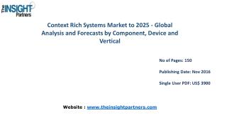 Explore Context Rich Systems Market Trends, Business Strategies and Opportunities 2025 |The Insight Partners