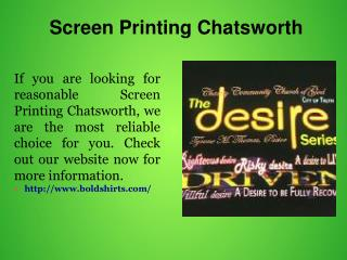 Screen Printing Chatsworth