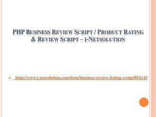 PHP Business Review Script / Product Rating & Review Script – i-Netsolution