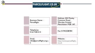 Parcel Flight Ensure On-Time Parcel Delivery to Australia and Other Countries