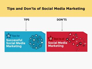 Social Media Tips and Don'ts of it