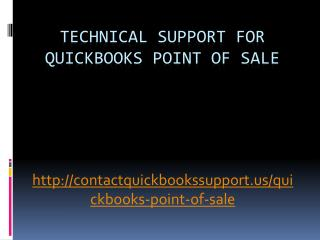 Technical Support For QuickBooks Point Of Sale