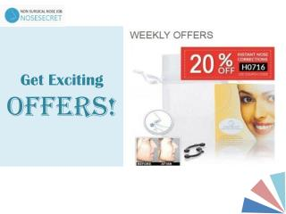 Get Exciting Offers - Non-surgical Nose Job