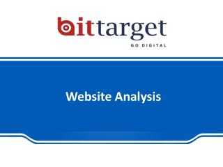 Website Analysis Services in Noida| Bittarget