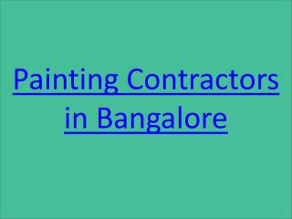 Painting Contractors in Adugodi