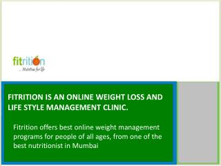 Fitrition- Online Weight Loss And Lifestyle Management Clinic