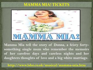 Cheap Mamma Mia Tickets	- LSBO