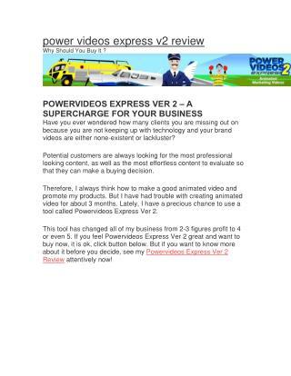 POWERVIDEOS EXPRESS VER 2 REVIEW