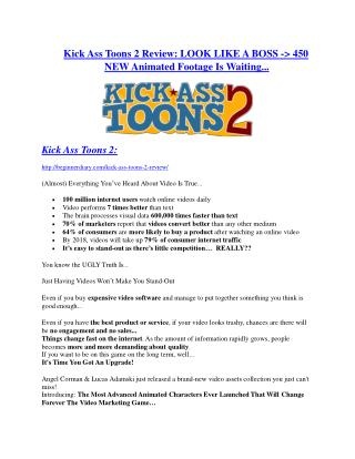 Kick Ass Toons 2 review and sneak peek demo