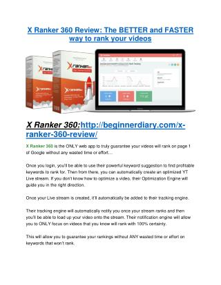 X-Ranker 360 REVIEW & X-Ranker 360 (SECRET) Bonuses