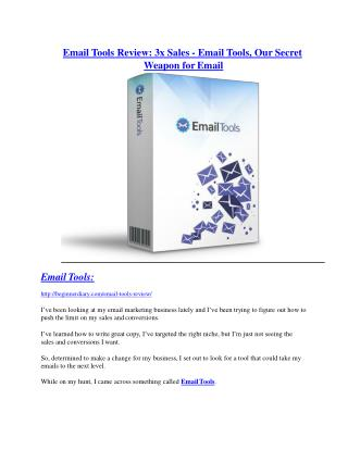 Email Tools Review - 80% Discount and $26,800 Bonus