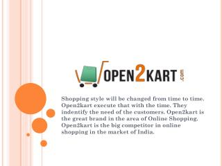 Online Shopping in India with Open2kart