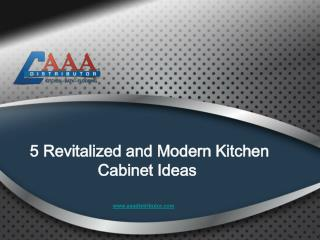 5 Revitalized and Modern Kitchen Cabinet Ideas