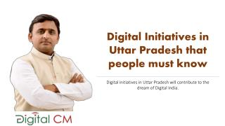 Digital initiatives in Uttar Pradesh that people must know.