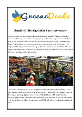 Cheap Online Sports Store