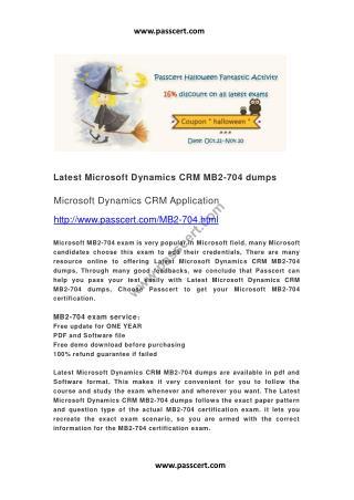 Microsoft Dynamics CRM MB2-704 dumps