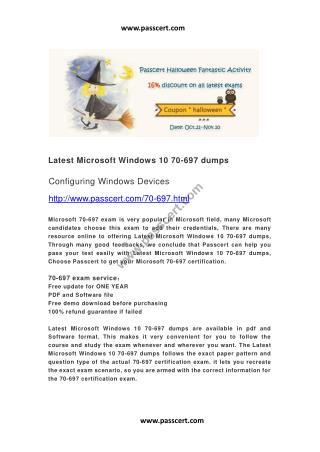 Microsoft Windows 10 70-697 dumps