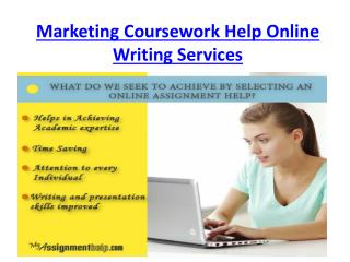 Why MyAssignmenthelp.com is Best for Marketing Coursework Help Online Writing Services