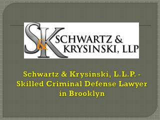 Schwartz & Krysinski, L.L.P. - Skilled Criminal Defense Lawyer in Brooklyn