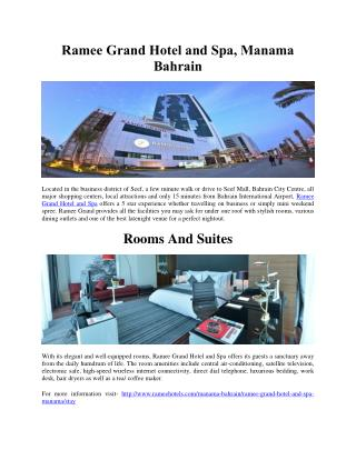 Ramee Grand Hotel and Spa, Manama Bahrain