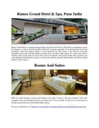 Ramee Grand Hotel & Spa, Pune India