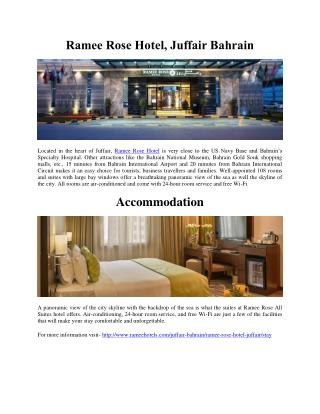 Ramee Rose Hotel, Juffair Bahrain