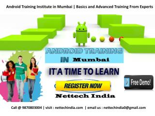 Android Training Institute in Mumbai | Basics and Advanced Training