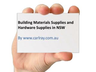Building Materials Supplies And Hardware Supplies In NSW