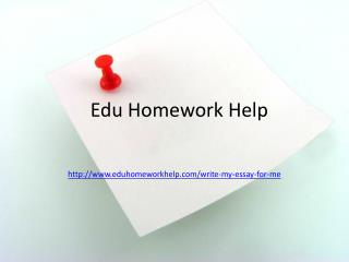 Homework Help for the Students