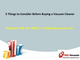 5 Things To Consider Before Buying A Vacuum Cleaner