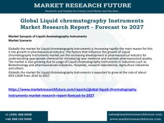 Global Liquid chromatography Instruments Market Research Report - Forecast to 2027