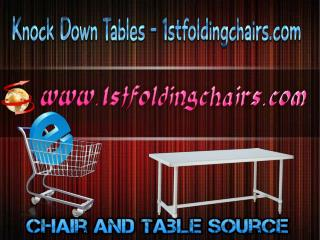 Knock Down Tables - 1stfoldingchairs.com