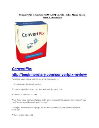 ConvertPix Review - ConvertPix  100 bonus items