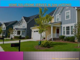 Home Solutions Service in San Antonio
