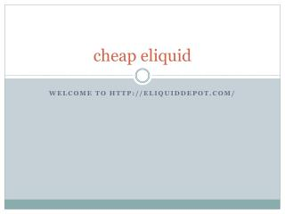 cheap eliquid