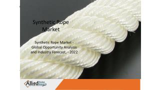 Synthetic Rope Market is witnessing a noticeable increase due to it's application in Various industries.
